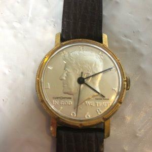 JFK 1968 Liberty silver half dollar watch